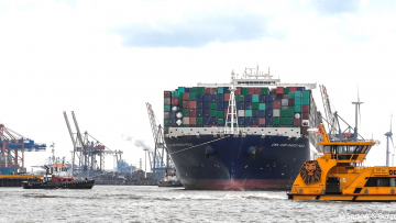 post image CMA CGM Marco Polo called the port of Hamburg