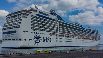 post image MSC Magnifica in port of Gdynia