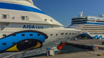 post image Double call of AIDA Cruises on Sunday