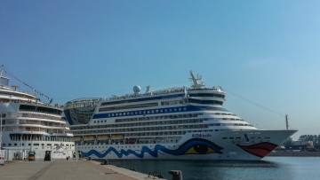 post image Double call of AIDA in Warnemünde by surprise