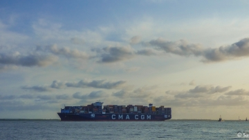 post image CMA CGM Antoine de Saint Exupery on the way to the christening ceremony